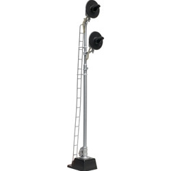 Atlas HO 70000091 Railroad Signal System - Signal - Searchlight Double Head No Cabinet - SP/SF