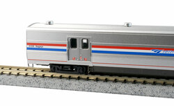 Kato N 156-0959 Amtrak Viewliner II Baggage Car Phase III Heritage #61024