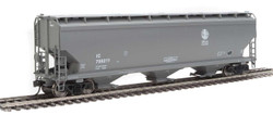 Walthers Mainline HO 910-7708 60' NSC 5150 3-Bay Covered Hopper Illinois Central IC #799274