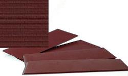 Walthers Cornerstone HO 933-3523 Brick Sheets Dark Red - Kit