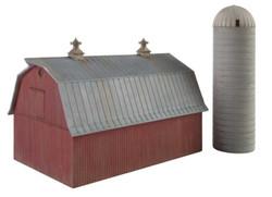 Walthers Cornerstone N 933-3892 Meadowhead Barn & Silo - Kit