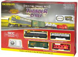Bachmann HO 00826 The Thunder Chief with DCC Sound Value F7 - Santa Fe Train Set