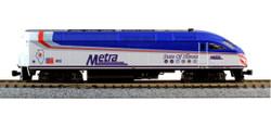 Kato N 106-8701-KB3 Chicago Metra 'State of Illinois' MP36PH Unit & 3 Car Nippon Sharyo Bi-Level Collector's Set