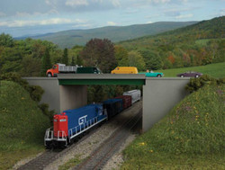 Walthers Cornerstone HO 933-4567 Modern Steel Highway Overpass - Kit