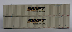Jacksonville Terminal Company N 535023 53' High Cube Corrugated Side Containers SWIFT INTERMODAL 'Faded' 2-Pack