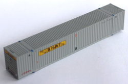 Jacksonville Terminal Company N 535028 53' High Cube Corrugated Side Containers JB HUNT Gray 'Ocean Service' 1-Pack