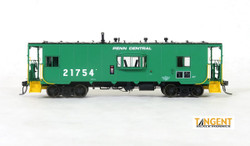 Tangent Scale Models HO 60112-01 Despatch Shops Incorporated NYC Lot 782/ N7 Class Steel Bay Window Caboose Penn Central 'Green Repaint' 1975+ PC #21504