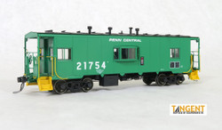 Tangent Scale Models HO 60112-04 Despatch Shops Incorporated NYC Lot 782/ N7 Class Steel Bay Window Caboose Penn Central 'Green Repaint' 1975+ PC #21754