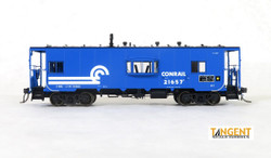 Tangent Scale Models HO 60120-01 Despatch Shops Incorporated NYC Lot 782/ N7 Class Steel Bay Window Caboose Conrail 'Blue Repaint' 1979+ CR #21657