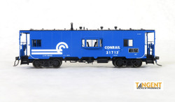 Tangent Scale Models HO 60120-02 Despatch Shops Incorporated NYC Lot 782/ N7 Class Steel Bay Window Caboose Conrail 'Blue Repaint' 1979+ CR #21713