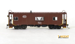 Tangent Scale Models HO 60121-01 Despatch Shops Incorporated NYC Lot 782/ N7 Class Steel Bay Window Caboose Boston and Albany 'Delivery Brown' 1949+ B&A #1300