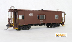 Tangent Scale Models HO 60121-02 Despatch Shops Incorporated NYC Lot 782/ N7 Class Steel Bay Window Caboose Boston and Albany 'Delivery Brown' 1949+ B&A #1302