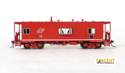 Tangent Scale Models HO 60115-01 St. Louis Car Company NYC Lot 827/N7A Class Steel Bay Window Caboose Alton & Southern 'Red Repaint' 1981+ A&S #16