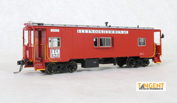 Tangent Scale Models HO 60116-01 St. Louis Car Company Steel Bay Window Caboose Illinois Terminal 'Delivery Target Red' 1953+ ITC #980