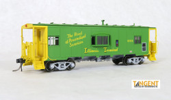 Tangent Scale Models HO 60118-01 St. Louis Car Company Steel Bay Window Caboose Illinois Terminal 'Personalized Services' Green Repaint 1979+ ITC #989