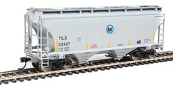 Walthers Mainline HO 910-7551 39' Trinity 3281 2 Bay Covered Hopper Trinity Leasing Industries TILX #33407