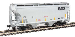 Walthers Mainline HO 910-7558 39' Trinity 3281 2 Bay Covered Hopper Iowa Chicago & Eastern GATX 'Black Logo' ICE #9813
