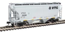 Walthers Mainline HO 910-7561 39' Trinity 3281 2 Bay Covered Hopper VTG North America VTGX #350118