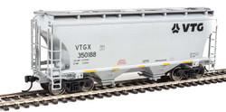 Walthers Mainline HO 910-7562 39' Trinity 3281 2 Bay Covered Hopper VTG North America VTGX #350188