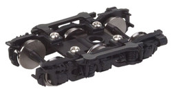 Walthers Proto HO 920-2134 GSC Pullman-Standard Super Dome 11 foot 6-Wheel Trucks Black with 36 inch Metal Wheels - 1 Pair