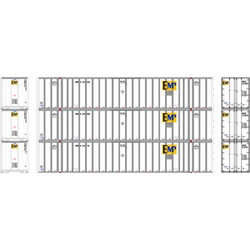 Athearn RTR HO ATH72770 53' Stoughton Container EMP 'White' 3-pack