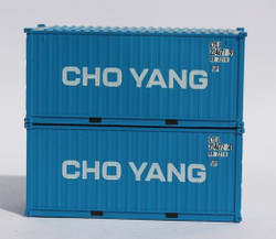 Jacksonville Terminal Company N 205430 20' Standard Height Corrugated Side Containers CHO YANG 2-Pack