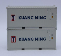 Jacksonville Terminal Company N 205436 20' Standard Height Corrugated Side Containers KUANG MING 2-Pack
