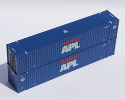 Jacksonville Terminal Company N 485018 48' High Cube 3-42-3 Corrugated Container APL 'Large Logo' Set #2  2-Pack