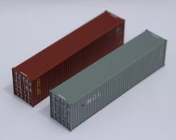 Jacksonville Terminal Company N 405804 40' High Cube  Container Mixed Pack GOLD and MOL 2-Pack