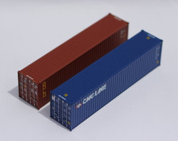 Jacksonville Terminal Company N 405806 40' High Cube Container Mixed Pack CNC LINE and GOLD 2-Pack