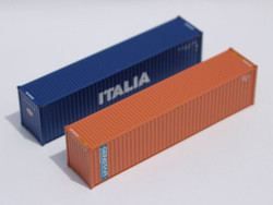 Jacksonville Terminal Company N 405807 40' High Cube Container Mixed Pack ITALIA and GENSTAR 2-Pack