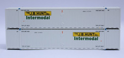 Jacksonville Terminal Company N 537043 53' High Cube Corrugated Side Containers JB HUNT Intermodal Set #3 2-Pack