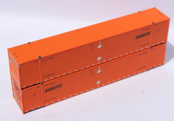 Jacksonville Terminal Company N 537045 53' High Cube Corrugated Side Container SCHNEIDER Set #3 2-Pack
