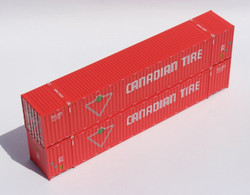Jacksonville Terminal Company N 535047 53' High Cube Container CANADIAN TIRE Set #2 2-Pack