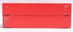 Jacksonville Terminal Company N 535049 53' High Cube Container CANADIAN TIRE 'Red Box Scheme' 2-Pack