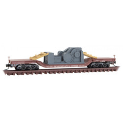 Micro Trains Line N 109 00 011 Heavyweight Depressed Center Flat Car with Load Pennsylvania PRR #470017