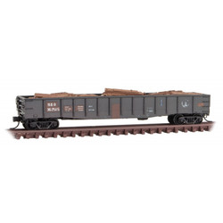 Micro Trains Line N 993 05 960 Weathered - 50' Steel 14 Panel Fishbelly Sides Gondola - Baltimore & Ohio B&O - 2 Pack
