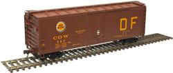 Atlas Trainman HO 20006139  40' Plug Door Box Car Chicago Great Western 'DF' CGW #382