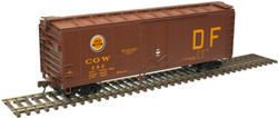 Atlas Trainman HO 20006140  40' Plug Door Box Car Chicago Great Western 'DF' CGW #383