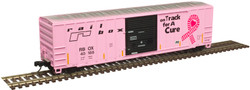Atlas Master N 50005590 FMC 5077 Single Door Boxcar Railbox 'On Track For A Cure' RBOX #40188