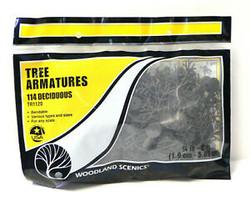"Woodland Scenics TR1120 Tree Armatures Kit - Deciduous - 114/pkg from 3/4"" - 2"""