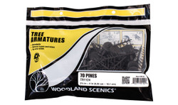 "Woodland Scenics TR1124 Tree Armatures Kit - Pine - 70/pkg from 2 1/2"" – 4"""