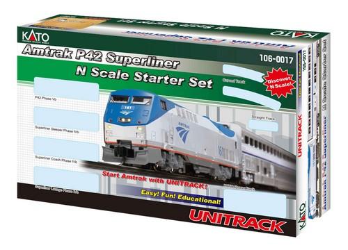 Kato N Scale Amtrak Superliner Phase IVb Passenger Starter Set with P42 Locomotive