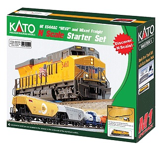Kato N Scale Ready to Run GE CP ES44AC Gevo Diesel & Mixed Freight Starter Set