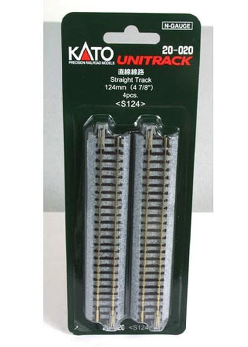 "Kato N 20-020 Unitrack Straight Track 124mm 4 7/8"" 4 pieces"