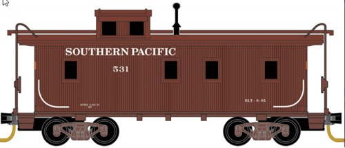 Micro Trains 051 00 310 34' Wood Sheathed Caboose w/ Straight Cupola Caboose Southern Pacific #531