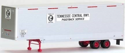 Trainworx HO 80366-03 40' Drop Frame Van Trailer, Tennessee Central TC #206637