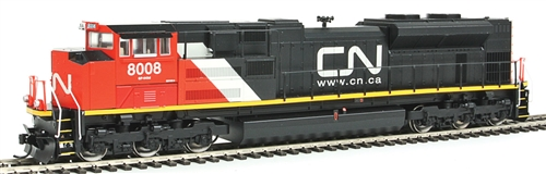 Walthers Mainline HO Scale EMD SD70ACe Diesel Locomotive, DCC Ready, Canadian National #8008 (High Headlight; orange, black, white; Website)