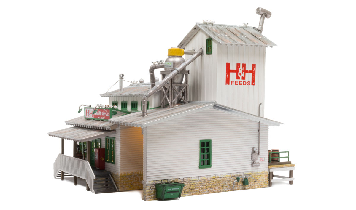 Woodland Scenics BR4949 N Scale Built /& Ready H/&H Feed Mill w// LED Lighting