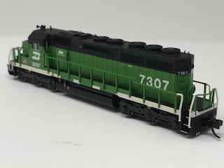 N Scale Charlie Hopkins Special EMD SD40R BN DC Version #7307